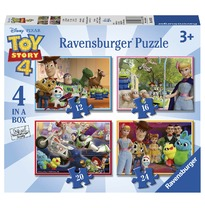 Puzzel 4 in a box Toy Story 4 3 , 2, 1 Start