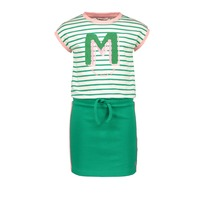 Jurk 'M stripe' Green (86-152)