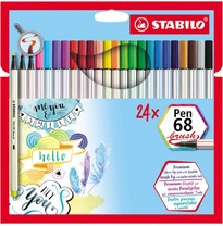 Stabilo Pen 68 brush 24 stuks viltstiften
