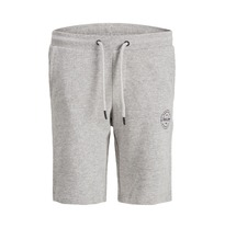 Korte sweatbroek 'jji shark' Grey (128-176)
