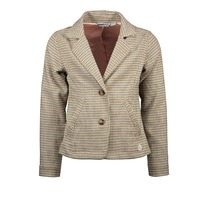 Blazer 'Ruit' soft gold (98-152)