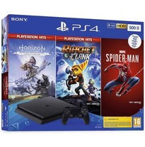 PS4 500 GB + HZN + Spiderman + Ratchet&Clank