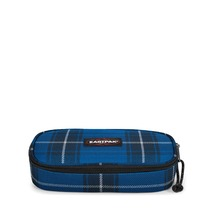 Eastpak pennenzak 'Oval Single' - Checked Blue